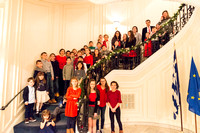 Greek4Kids at Christmas Caroling at the Consulate General of Greece in Boston 2017