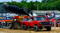 Truck pulling competition at Marshfield Fair 2012 in MA